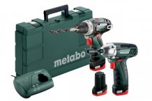 Metabo PowerMaxx BS Basic + PowerMaxx SSD, 3x AKU