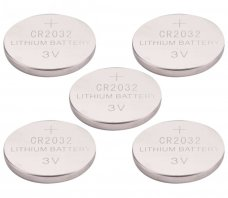 EXTOL ENERGY baterie lithiové, 5ks, 3V (CR2032)