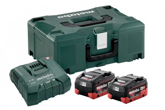 Metabo Basic Set 18V LiHD 2x aku 5.5Ah+ ASC Ultra